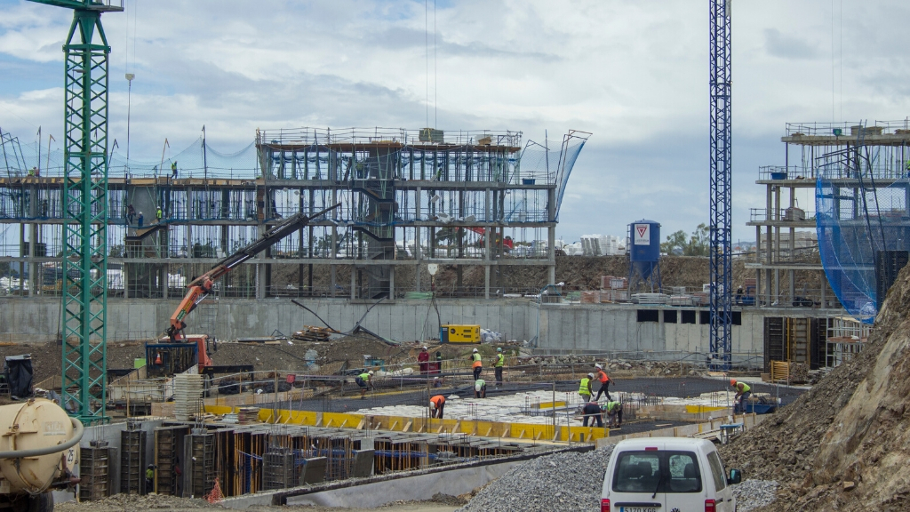 Phase V - 2020 06 Structure rising in block 55