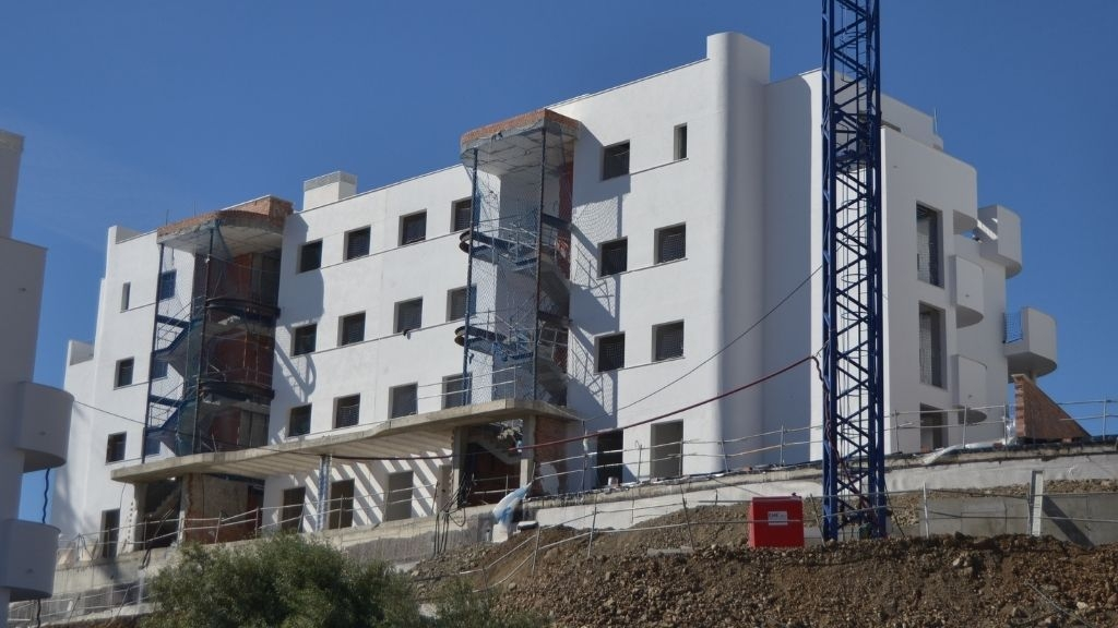 Phase IV - 2021 03 Final stages of rendering exteriors in Blocks 47 and 48