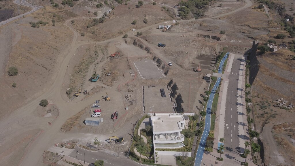 Phase I - 2018 08 - Phase I birdeye view excavation