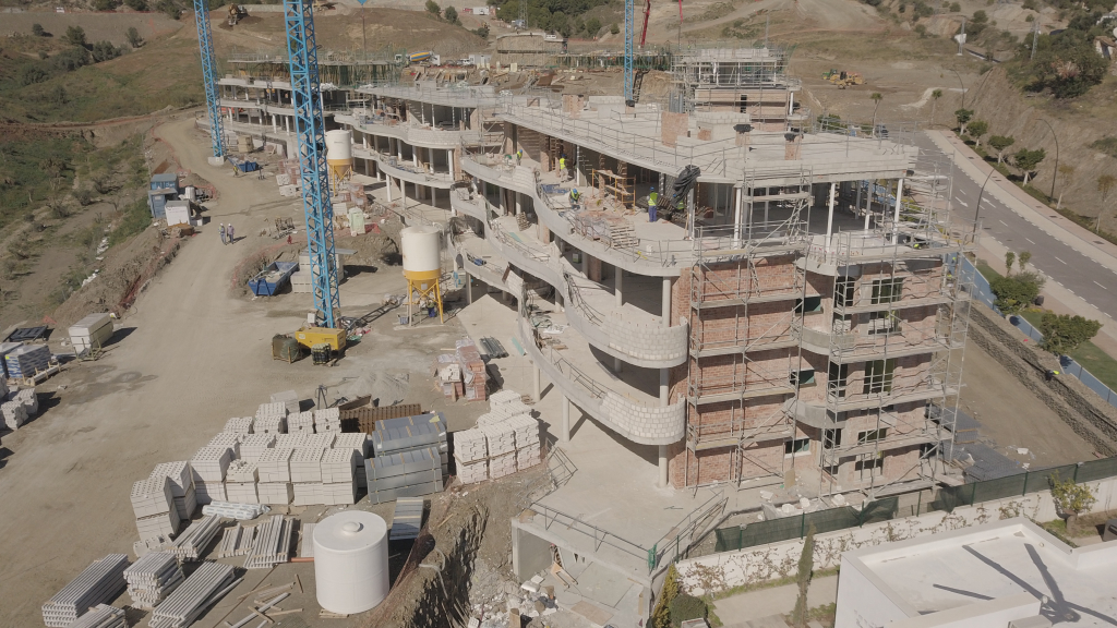 Phase I - 2019 05 - The terraces in blocks 7 - 12 in Phase I